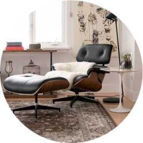 replica des charles eames lounge chair g nstig bei muloco. Black Bedroom Furniture Sets. Home Design Ideas