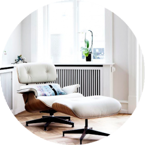Eames Lounge Chair Weiss