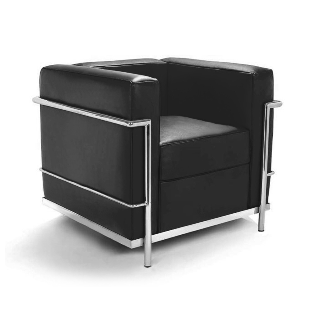 le corbusier lc2 sessel 677 00. Black Bedroom Furniture Sets. Home Design Ideas