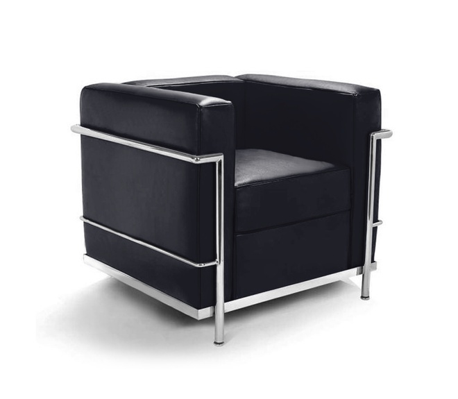 le corbusier lc2 sessel 917 00. Black Bedroom Furniture Sets. Home Design Ideas