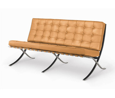 Mies van der Rohe Barcelona Chair Two-Seater