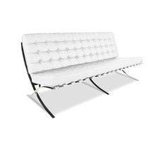 Mies van der Rohe Barcelona Chair Three-Seater