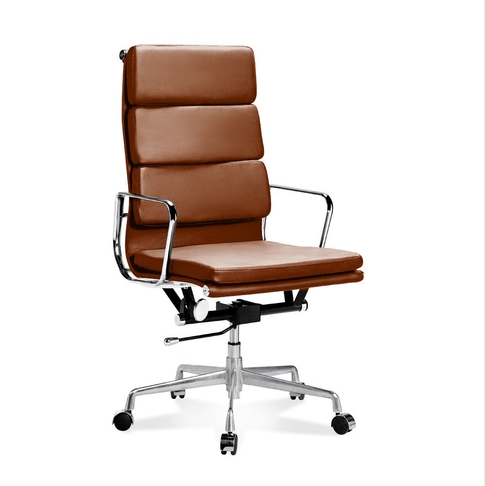 ea 219 eames full height office chair with soft cushions