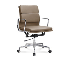 EA 217 - Eames Half-Height Office Chair with soft cushions