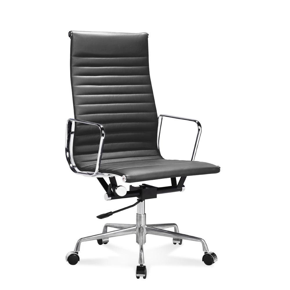 eames ribbed chair tan office. EA 119 - Eames Full-Height Office Chair With Ribbed Leather Tan