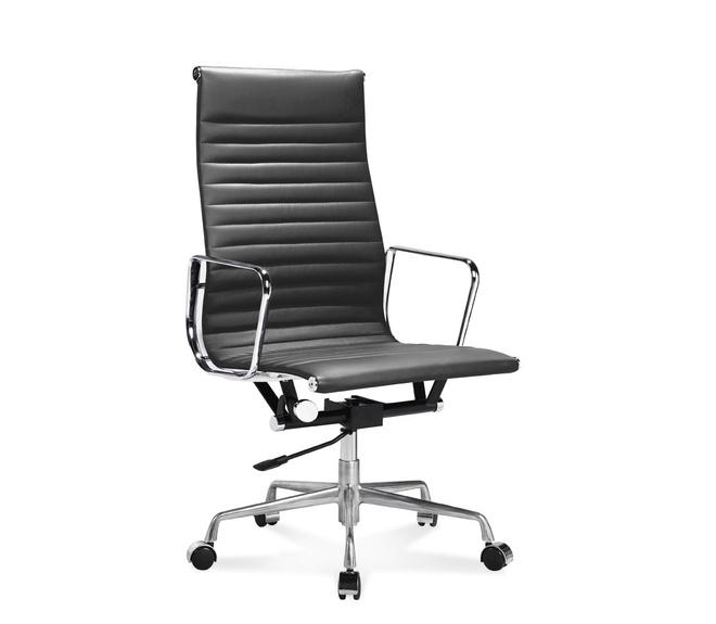 ea 119 eames b rostuhl hoher office chair mit geripptem leder. Black Bedroom Furniture Sets. Home Design Ideas