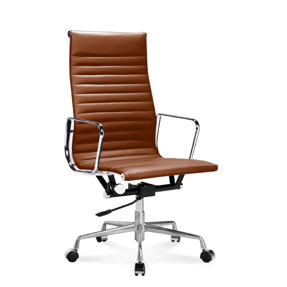 EA 119 Bürostuhl Hoher Fice Stuhl Mit Geripptem Leder