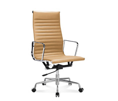 EA 119 - Eames Full-Height Office Chair with ribbed leather