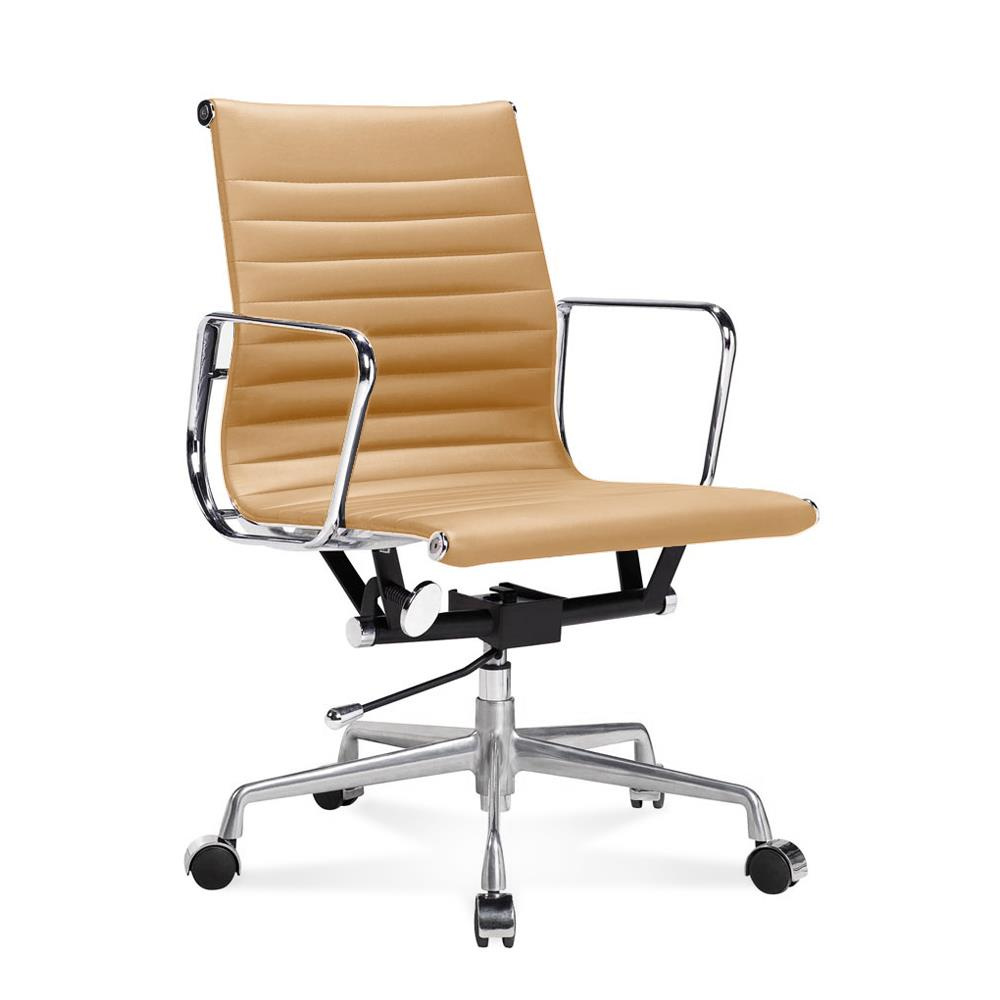 ea 117 eames half height office chair with ribbed leather
