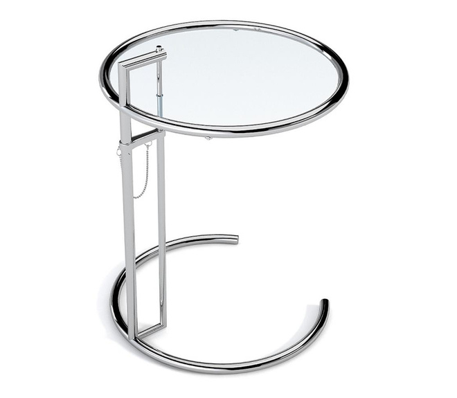 Eileen Gray adjustable glass table E1027