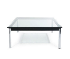 Le Corbusier LC10 glass table square, small