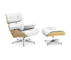 Eames Lounge Chair avec pouf de Charles and Ray Eames