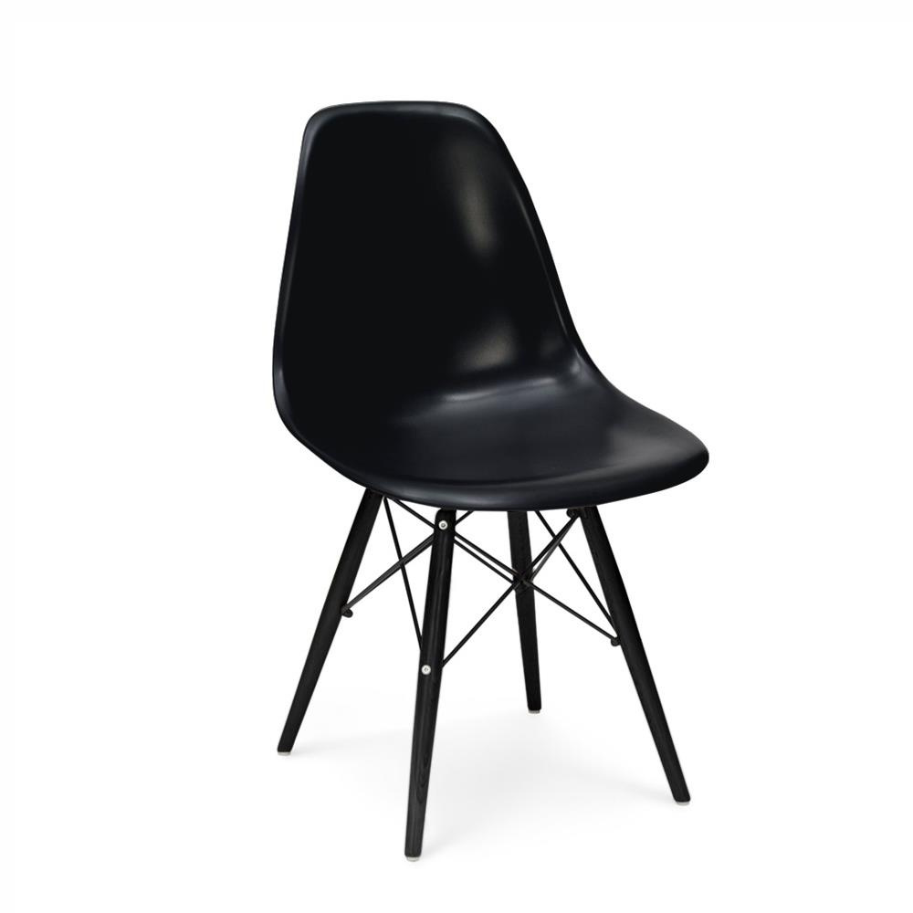 Charles and ray eames dsw stuhl 167 00 for Stuhl schwarz holz