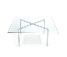 Table basse Barcelone de Mies van der Rohe