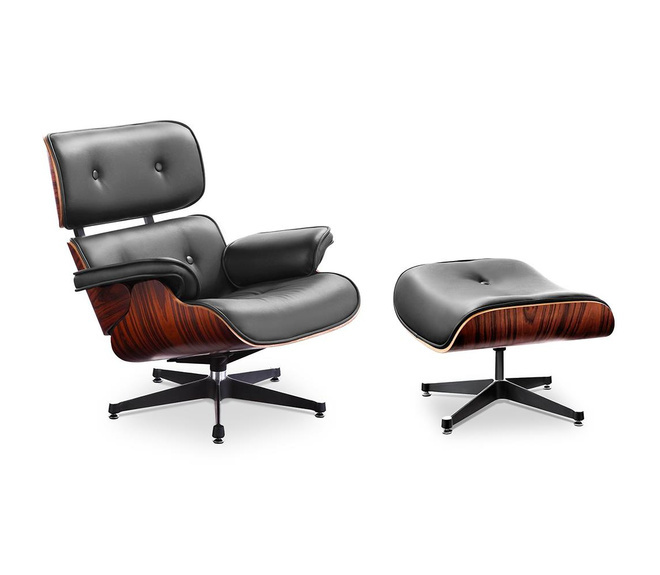 (XL version) Charles and Ray Eames Lounge Chair with high backrest