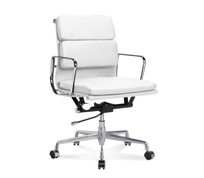 EA 217 Half-Height Office Chair with soft cushions white